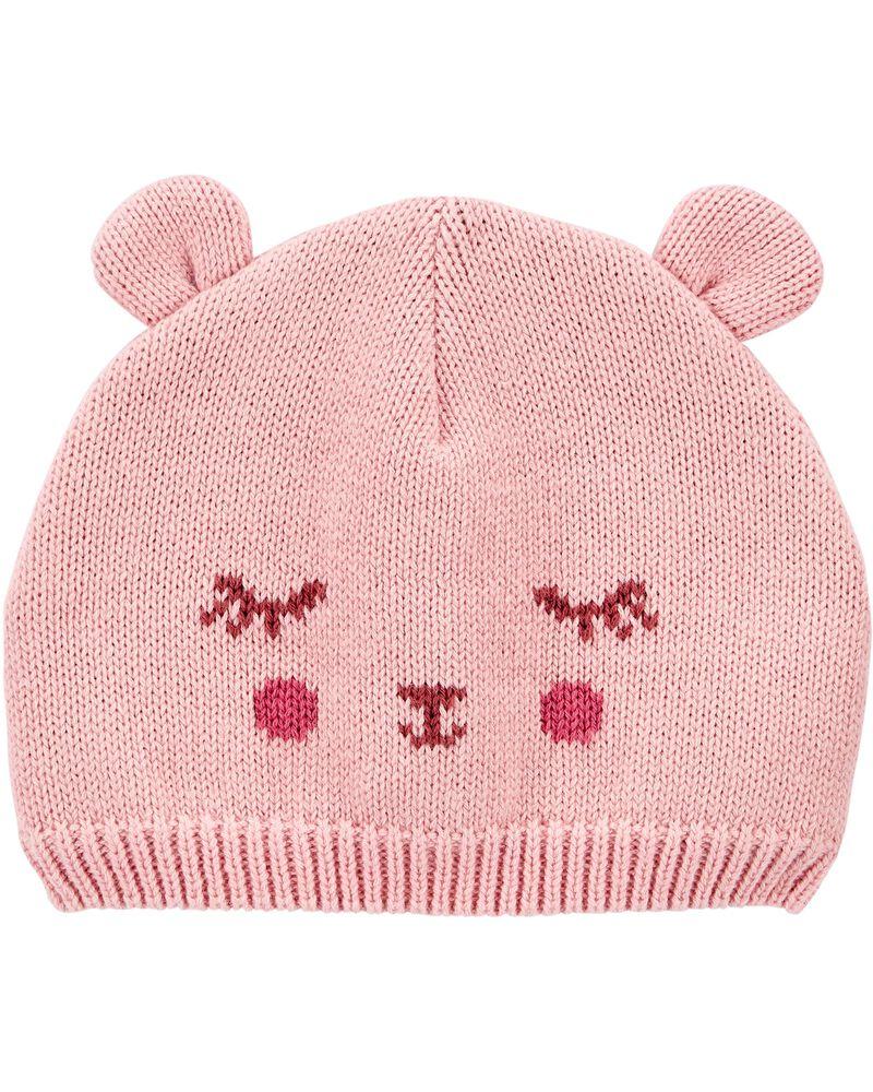 Bonnet ourson pour bébé, , hi-res