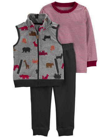 3-Piece Animal Vest Set