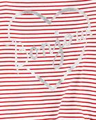 Striped Tie-Front Jersey Tee , , hi-res