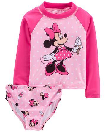2-Piece Minnie Mouse Rashguard Set