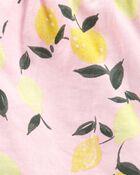 2-Piece Lemon Linen Tank & Slub Jersey Short Set, , hi-res