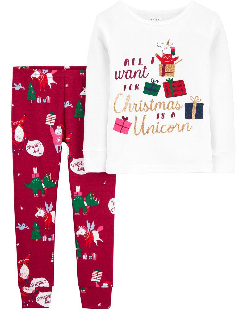 Pyjamas 2 pièces en coton ajusté, , hi-res
