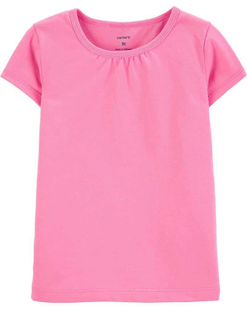 T-shirt en coton rose, , hi-res