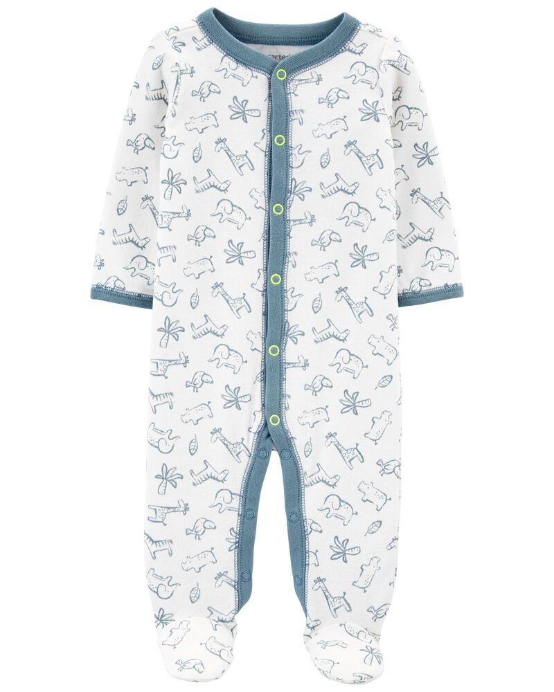 Animal Snap-Up Cotton Sleep & Play, , hi-res