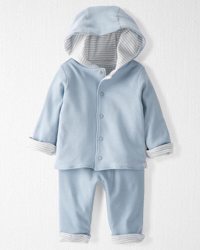 2-Piece Reversible Organic Cotton Rib Set, , hi-res