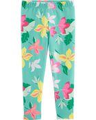 Tropical Floral Capri Leggings, , hi-res