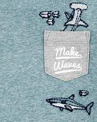 Shark Pocket Tee, , hi-res