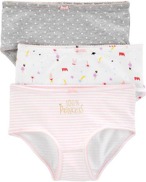 Emballage de 3 paires de sous-vêtements en coton extensible
