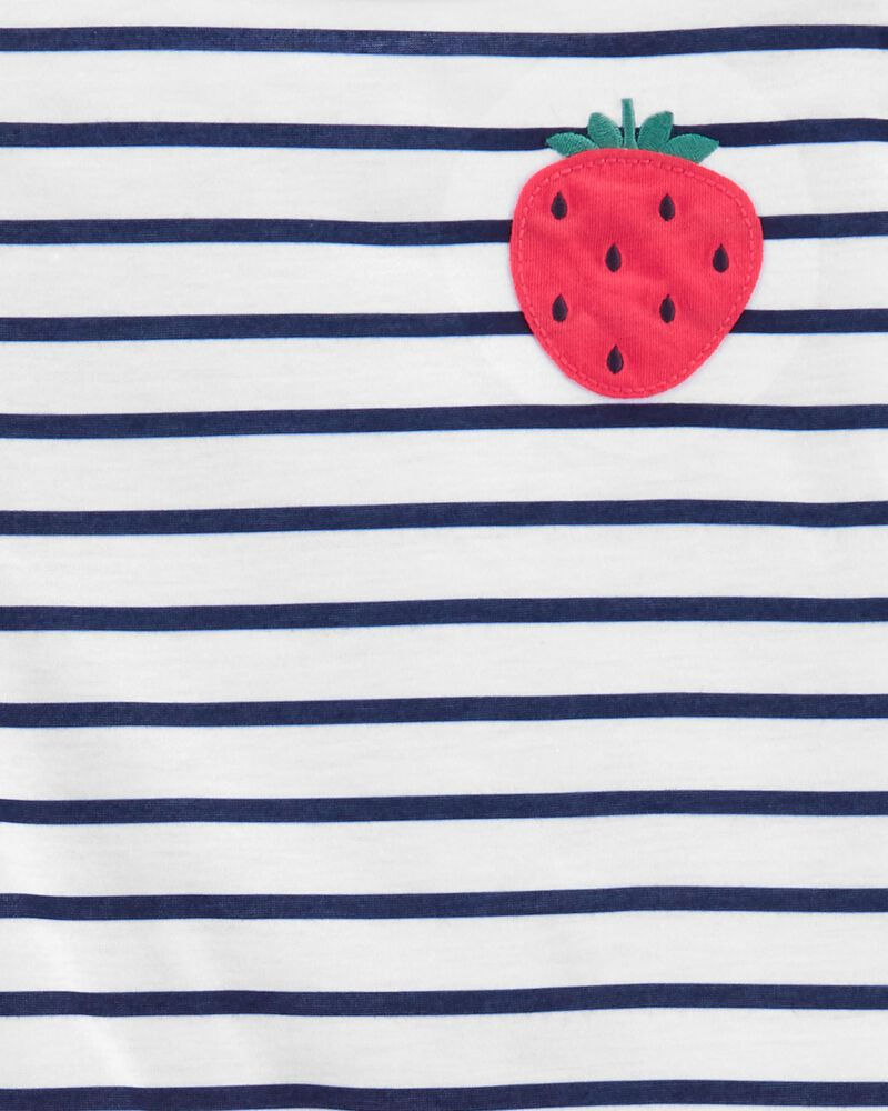 3-Piece Strawberry Loose Fit PJs, , hi-res