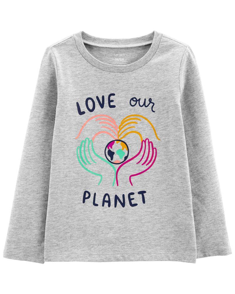 T-shirt en jersey à planète, , hi-res
