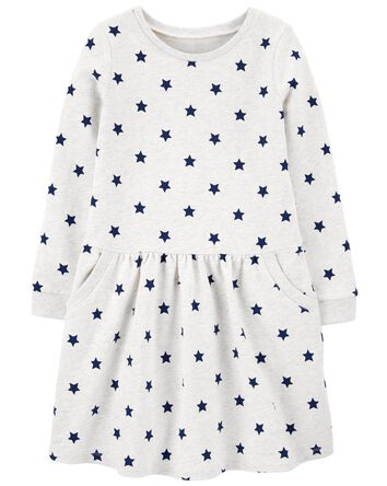Long-Sleeve Cotton Dress