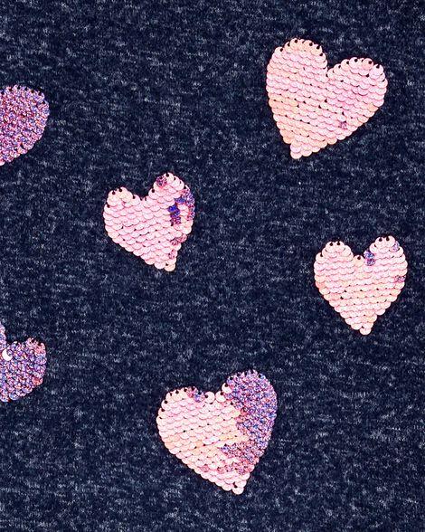 Robe en jersey à cœur scintillant