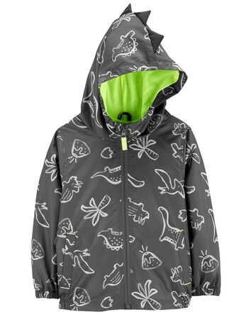 Dino Print Lightweight Windbreaker...