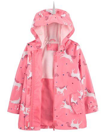 Unicorn Print Rain Jacket