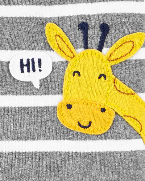 1-Piece Giraffe Snug Fit Cotton Romper PJs