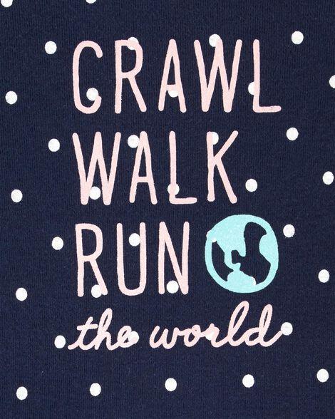 Cache-couche à collectionner Crawl Walk Run The World