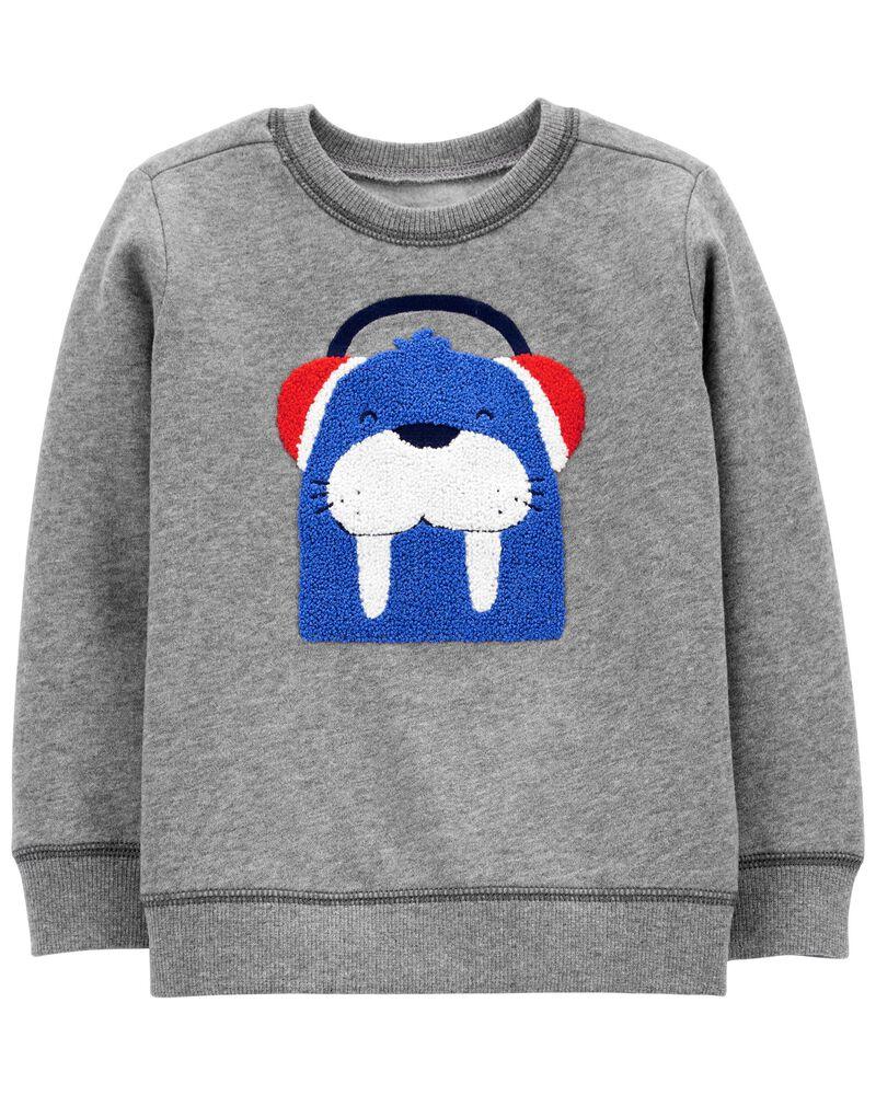 Walrus Fleece Pullover, , hi-res