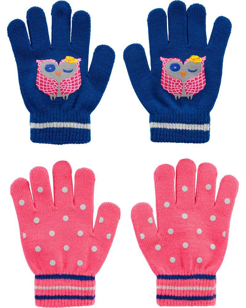 Emballage de 2 paires de gants chouette à paume agrippantes Kombi, , hi-res