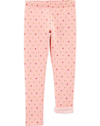 Heart Cozy Fleece-Lined Leggings