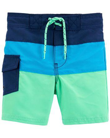 Colourblock Swim Trunks