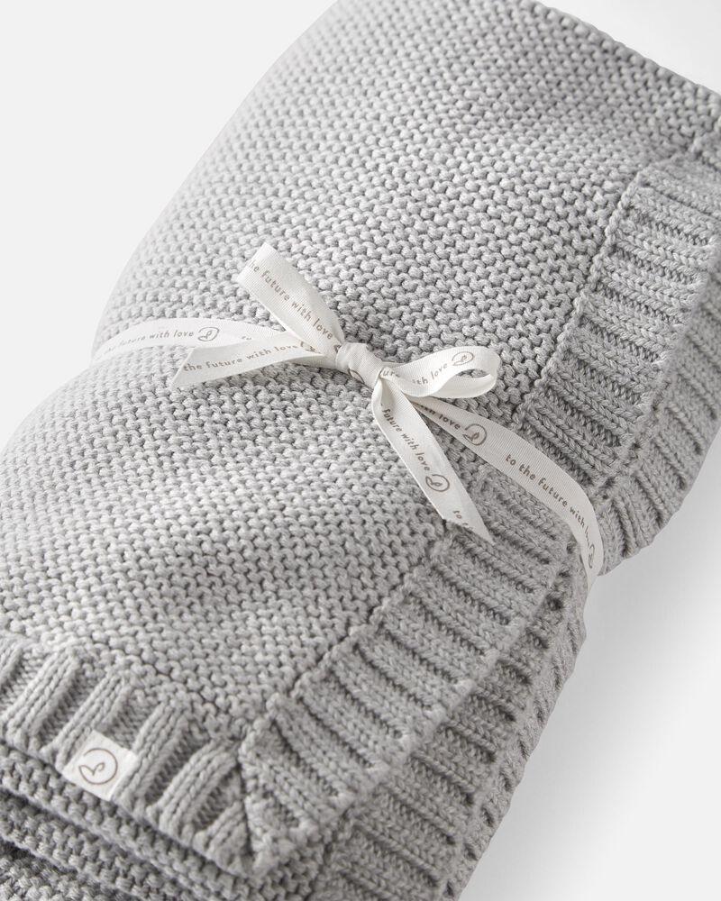 Organic Cotton Seed Stitch Blanket, , hi-res