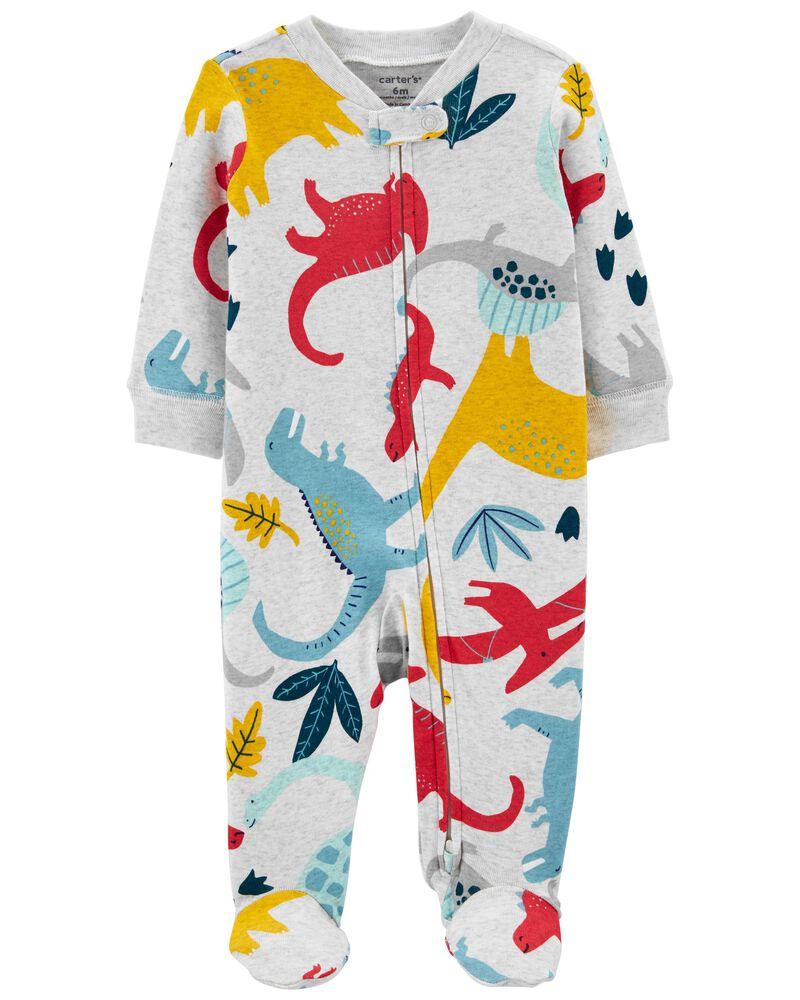 Dinosaur 2-Way Zip Cotton Sleep & Play, , hi-res