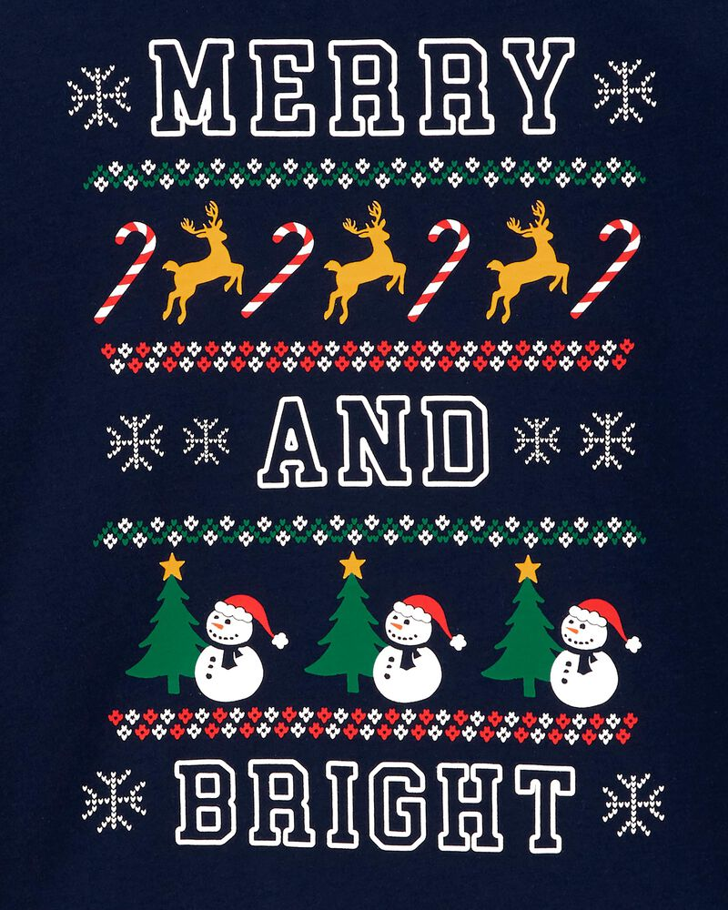 T-shirt en jersey Merry And Bright Holiday , , hi-res
