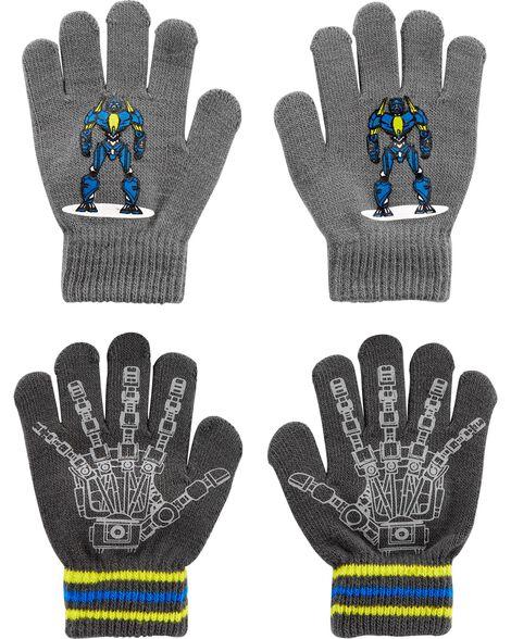 Emballage de 2 paires de gants robot à paume agrippantes Kombi