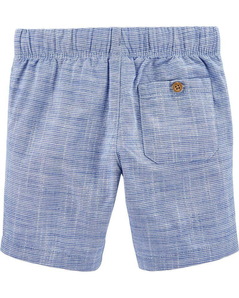Pull-On Cotton Shorts, , hi-res