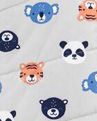 Animal Print Zip-Up Pram, , hi-res