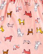 Ensemble 2 pièces haut en jersey et legging à chien, , hi-res
