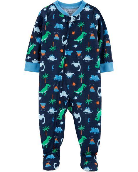 Pyjama 1 pièce en polyester à dinosaure