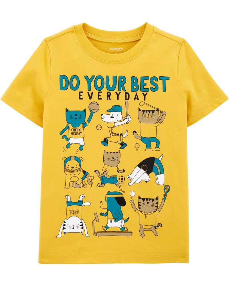 T-shirt en jersey Do Your Best Everyday, , hi-res