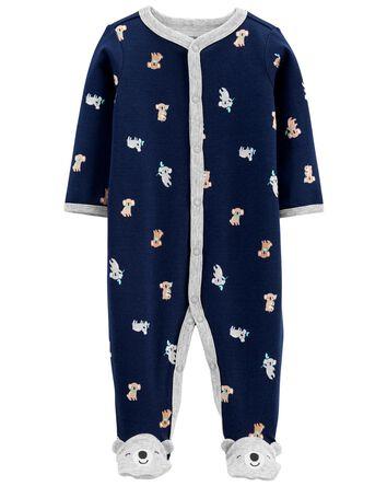 Koala Cotton Snap-Up Sleep & Play