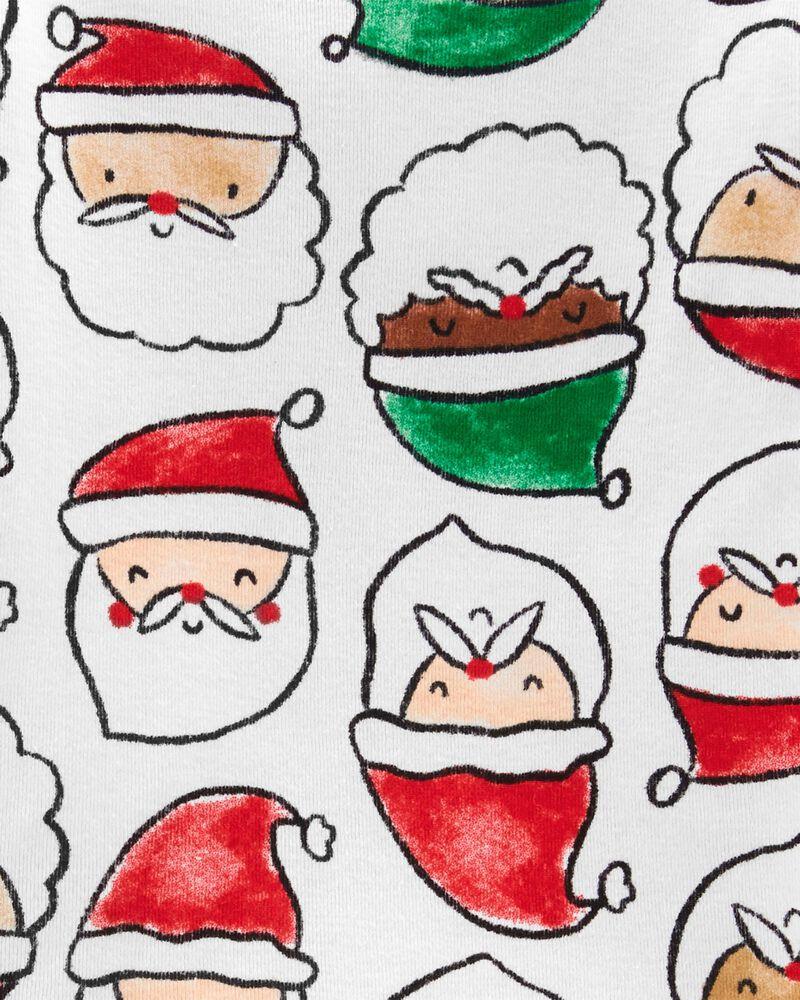 Pyjama des Fêtes 2 pièces en coton ajusté Père Noël, , hi-res