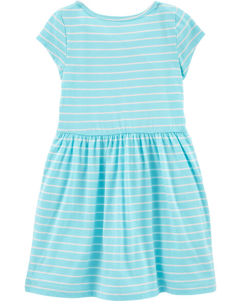 Striped Cat Jersey Dress