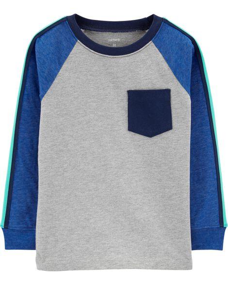 T-shirt à poche et manches raglan