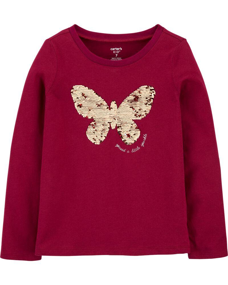 Flip Sequin Butterfly Jersey Tee, , hi-res