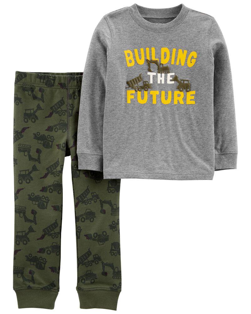 Ensemble 2 pièces en jersey t-shirt et pantalon camouflage, , hi-res