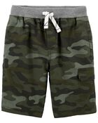 Camo Easy Pull-On Shorts, , hi-res
