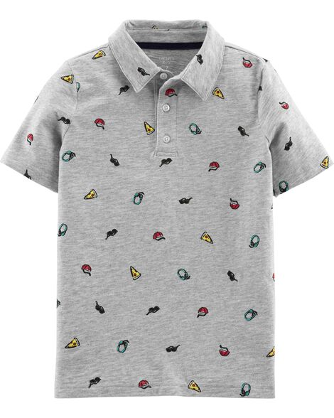 Car Slub Jersey Polo