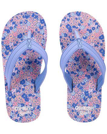 Sandales de plage fleuries