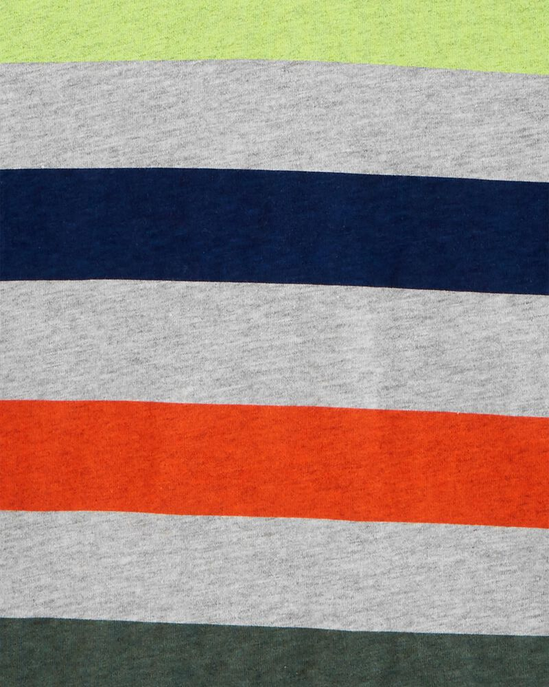 T-shirt en jersey rayé à capuchon, , hi-res
