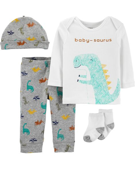 4-Piece Dinosaur Take-Me-Home Set