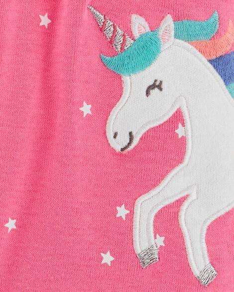 Polka Dot Unicorn Snap-Up Romper