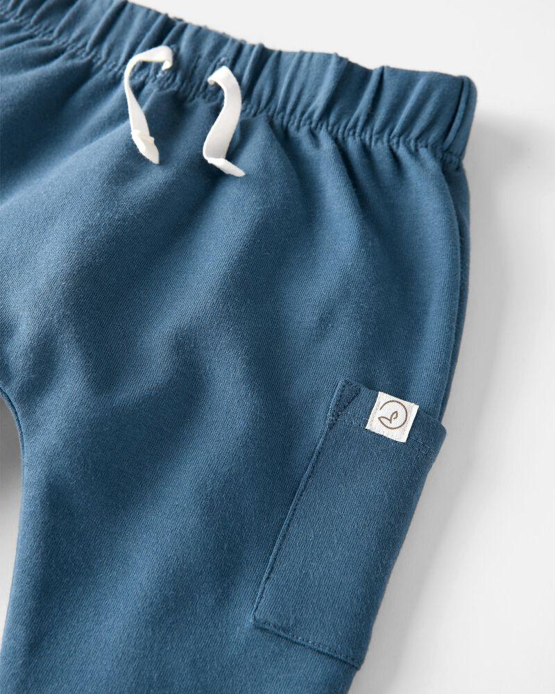Emballage de 2 pantalons en coton bouclette certifié biologique, , hi-res