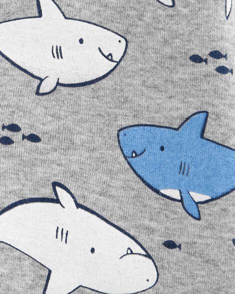 Shark Snap-Up Romper