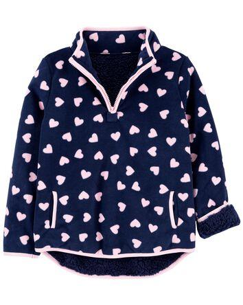 Heart Fleece Pullover