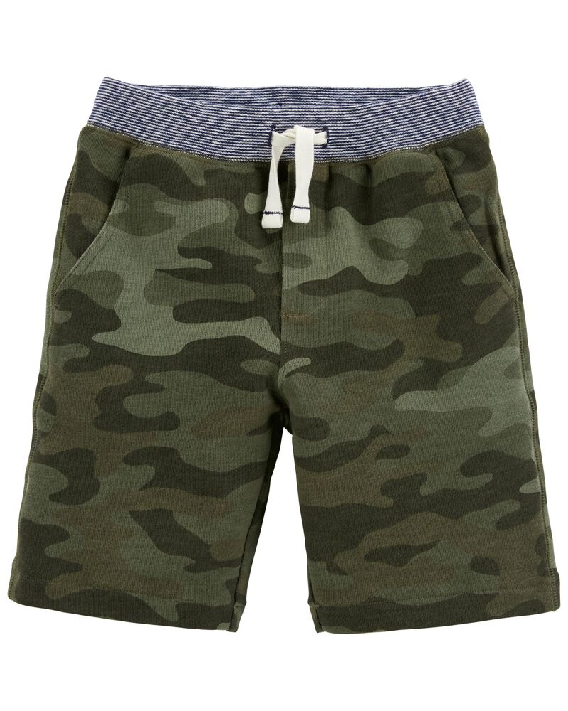 Camo Pull-On French Terry Shorts, , hi-res