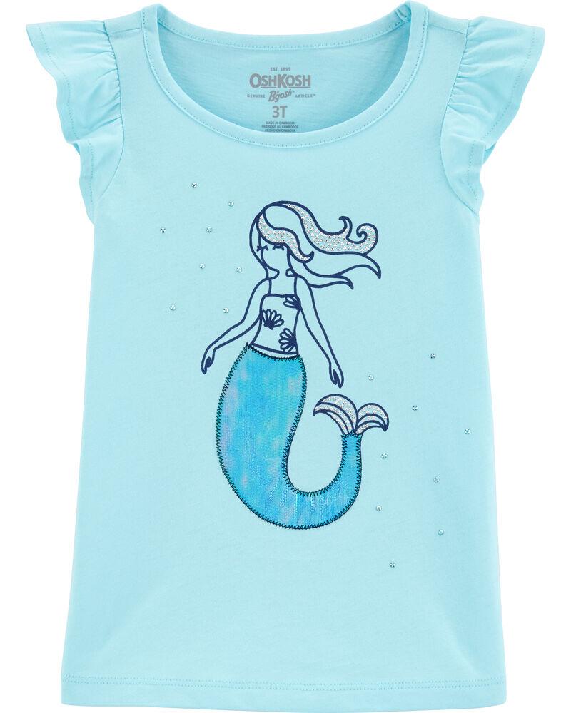 Flutter Sleeve Mermaid Tee, , hi-res